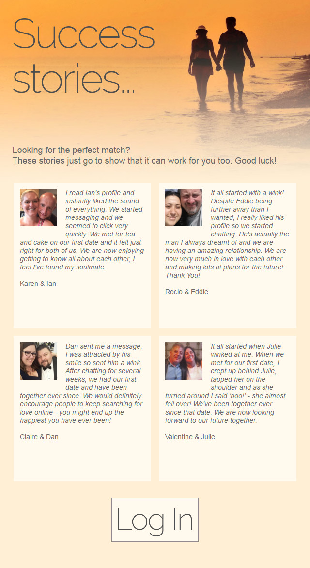 Online dating successful stories